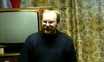 Jaak Lõhmus in Estonian Home in Uppsala on March 24, 1991