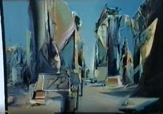 Painting Exhibition by Jaan Elken in Rodney Bradbury's Private Gallery in Uppsala in 1991