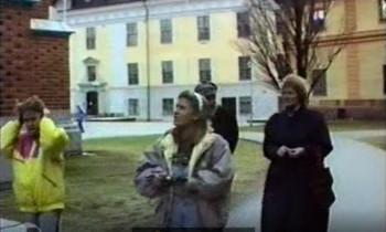 Heljo, Kaidi and Marika in Uppsala in 1990