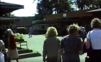 In Pärnu - Open Market and Schoolhouse on Karja Street on June 26, 1990