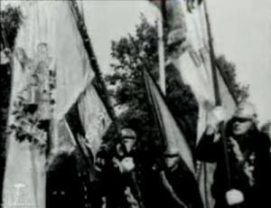 Esimese üleriikliku tuletõrje korpuse päeva paraad Tallinnas Vabaduse platsil 29. augustil 1937. aastal
