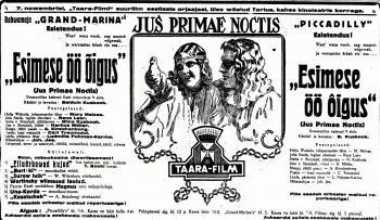 """Reklaamkuulutus ajalehes """"Päevaleht"""" 7. novembril 1925 Digiteeritud Eesti Ajalehed"""