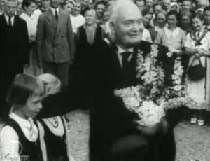 E. V. President Konstantin Päts külaskäigul Saaremaal