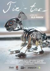 Tik-tak. Annecy International Animation Film Festival (France), 2015 ingliskeelne plakat Kujundus Kristjan Mändmaa Nukufilm