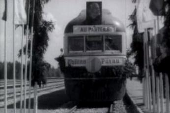 Esimene laiarööpmeline elektrirong Pärnusse