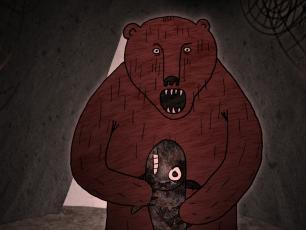 Fisherwoman and a Bear. A Sami Story