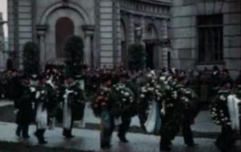 Rootsi kuningas Gustaf V matuserongkäik Stockholmis