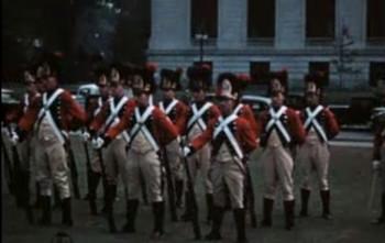 Paraadid, kuberneri vahtkond ja Trinity kolledž Hartfordis, vabaõhuetendus