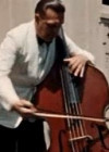 Berkshire music festival Tanglewood. Ludvig Luht playing contrabass