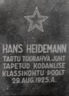 H.Heidemanni põrmu ümbermatmine Tartus